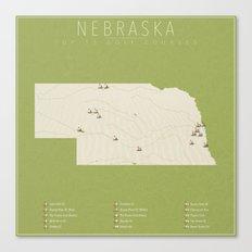 Nebraska Golf Courses Canvas Print