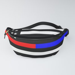 Thin Blue Red Line Police Fanny Pack