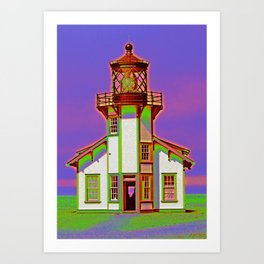 A California Lighthouse Art Print