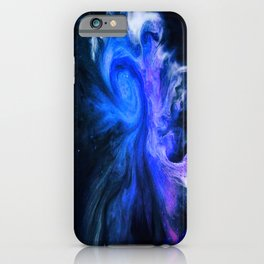 Space Colors Swirling Blue Galaxy iPhone Case