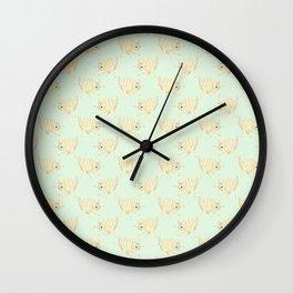 One Eyed Cat Wall Clock
