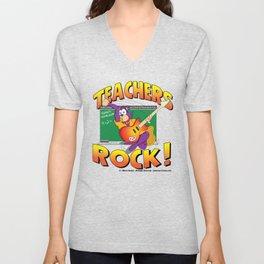 Teachers Rock Merchandise Unisex V-Neck