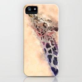 Giraffe #animal #watercolor iPhone Case