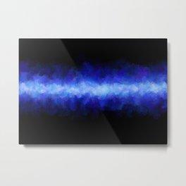 Blue Light Beam Metal Print