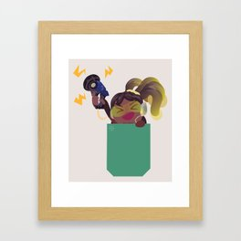 Pocket healer DJ Framed Art Print