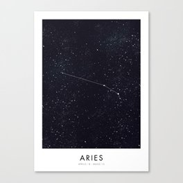 New Zodiacs Calendar: Aries Canvas Print