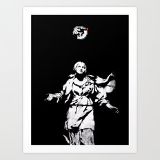 Holy Guns Art Print