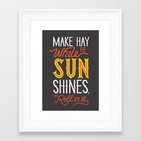 sunshine Framed Art Prints featuring Sunshine by Wharton