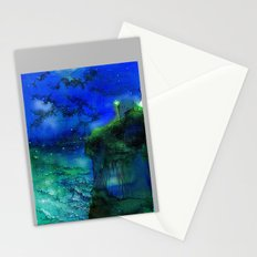 Cobalt and vermillion Stationery Cards