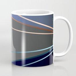 Blue, gray, light blue Coffee Mug