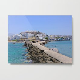 Beautiful Naxos Island in Greece Metal Print