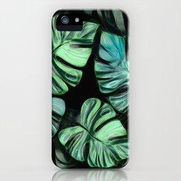 Tropical Foliage 10 - Monstera Deliciosa iPhone Case