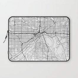 St Paul Map White Laptop Sleeve