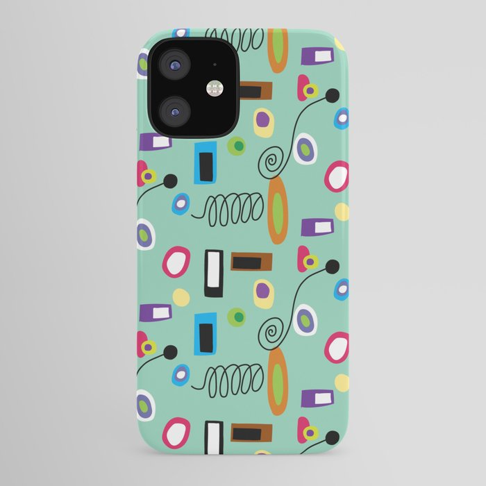 Mod Abstract Green iPhone Case
