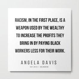 33     |  Angela Davis | Angela Davis Quotes |200609 Metal Print