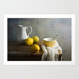 Three lemons Art Print