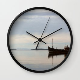 Old Fishing Trawler Wall Clock
