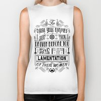 conan Biker Tanks featuring What is best in life... by Purple Cactus