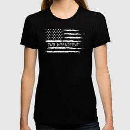 2nd Amendment- Gun Owner - Gun Rights - American Flag T-shirt
