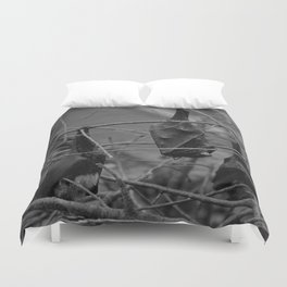 Dark Bat Laughs Duvet Cover