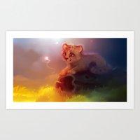 cheetah Art Prints featuring Cheetah by apofiss