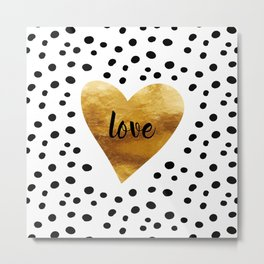 Golden love Metal Print
