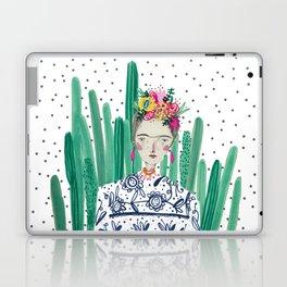 Frida Kahlo. Art, print, illustration, flowers, floral, character, design, famous, people, Laptop & iPad Skin