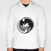 ying yang Hoodies featuring Ying & Yang by Brittany Rae
