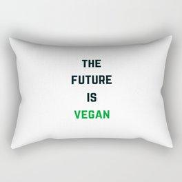 THE FUTURE IS VEGAN Rectangular Pillow
