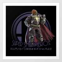 super smash bros Art Prints featuring Ganondorf - Super Smash Bros. by Donkey Inferno
