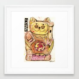 Harold the Chinese Cat Framed Art Print