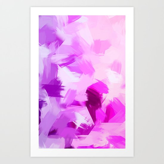 BLOSSOMS - VIOLET Art Print