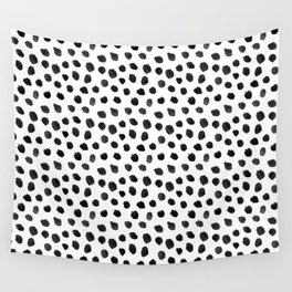 Black & White Dalmatian Pattern Wall Tapestry