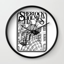 Sherlock Holmes /The Consulting Detective by Peter Melonas Wall Clock