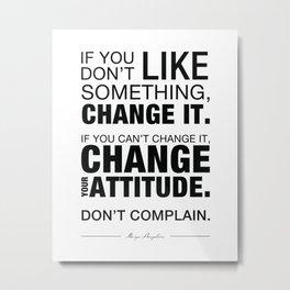 Angelou Attitude Metal Print