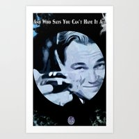 great gatsby Art Prints featuring Great Gatsby by Instrum