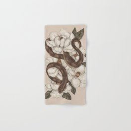 Snake and Magnolias Hand & Bath Towel