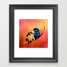 Cuddle Birds Framed Art Print
