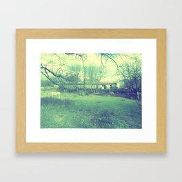 Old Barn - Blue Framed Art Print
