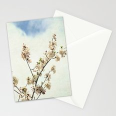 Stretching Cherry Blossom Stationery Cards