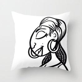 Peaceful Sista Throw Pillow