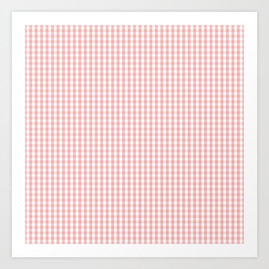 Mini Lush Blush Pink and White Gingham Check Plaid by honorandobey
