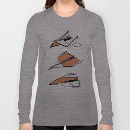 Paper Planes: Orange Long Sleeve T-shirt