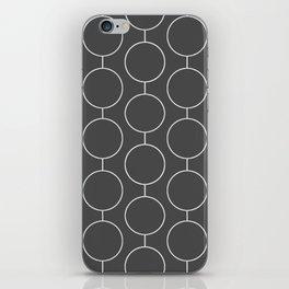 RINGS Grey iPhone Skin