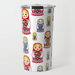 Russian nesting dolls pattern Travel Mug