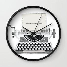 Just keep writing Wall Clock