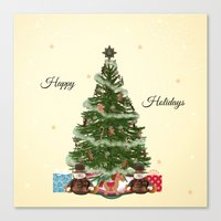 christmas tree Canvas Prints featuring Christmas Tree by haroulita