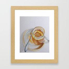 Iced tea with lemon Framed Art Print