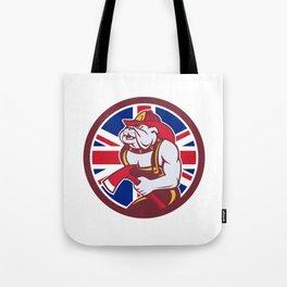 British Bulldog Fireman Union Jack Flag Icon Tote Bag