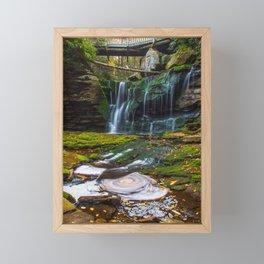 Blackwater Falls Waterfall Framed Mini Art Print